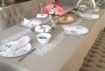 Taş rengi dertsiz masa örtüsü