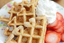 Waffle recipes and ideas.
