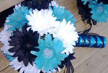 Black and blue wedding