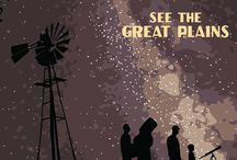 Great Plains / The Platte River valley bisects the Great Plains through the heart of Nebraska. These posters by Nebraska's Great Plains Ecotourism Coalition highlight the experiences and adventures you can have.