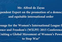 Video message: Women's International League for Peace and Freedom (WILPF) / My video message on the occasion of the WILPF 100 Conference: https://owncloud.unog.ch/public.php?service=files&t=edce046cb9e42dd4959cd3cfe5a249f6