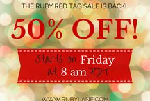 Ruby Red Tag Sale - 50% off - Ruby Lane / It's that time of year again! Check out the deals on the Ruby Lane 72 Hour Ruby Red Tag Sale — 50% OFF! The sale runs Friday, July 31st at 8:00 a.m. (PDT) through Monday, August 3rd at 8:00 a.m. (PDT). www.rubylane.com #RubyRedTagSale  / by Ruby Lane Vintage