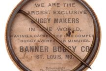 BANNER BUGGY Co.   Est. 1880 / The Banner Buggy Company of St. Louis was one of the largest horsedrawn vehicle manufacturers in the country. Contemplation, and a few prototypes, proved to be as far as the company proceeded at this time. In July of 1910, Banner president Russell E. Gardner had announced the formation of the subsidiary Banner Automobile Company.