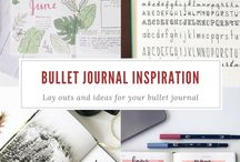 Inspiration | Bullet Journal / Lay outs and designs for your bullet journal!  #bulletjournal #planning #lookbook