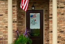Patriotic / Farmhouse porch
