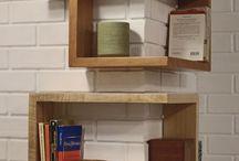 Corner shelving