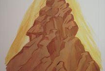 Icônes montagnes et paysages