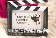 Mariage thème cinéma / Movie themed wedding / Ideas and inspirations for movie themed weddings. More on www.placedumariage.fr