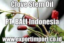 Supplier Clove Stem Oil Indonesia