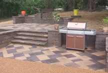 Patios / All things patio - paver patios + concrete patios + natural stone or flagstone patios.
