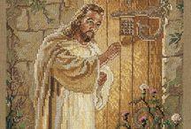 cross stitch: religious / borduren religieus