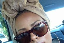 Shades, earrings and a wrap