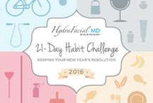 21 Day Habit Challenge / Start 2016 right with our 21 Day Habit Challenge! Join us for the next 21 Days as we'll be posting tips & tricks to give you a fresh start for the new year! ‪#‎21DayHabit‬ ‪#‎HydraFacial‬ ‪#‎FreshStart‬