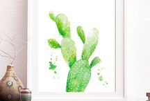 Cactus and succulent watercolors