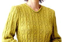 Knitted sweaters & tunics / by Lilian Lund