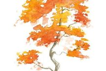 Sarı yapraklı ağaç