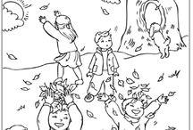 děti na podzim