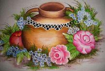 pintando jarra de vdrio