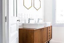 ideal home 2018 show family bathroom / family bathroom colour cement tiles geometric pattern