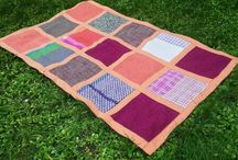 Blanket - APRICOT / SIZE: 131X216cm. MATERIAL - 100%wool MADE- handmade