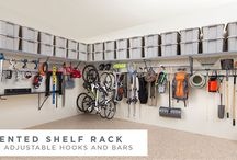 Garage / Pretty garages, beautiful floors, organized shelves, useful tool storage, sports and camping equipment racks, and more.
