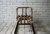 woodstoneglass / wooden sled