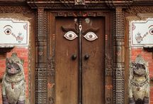 Doors, gates from Nepal, India, Pakistan etc.