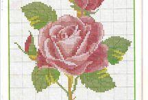 haft róże
