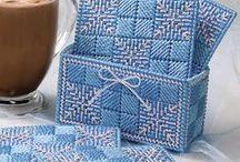 Plastic canvas quilt block