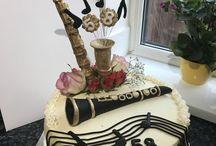 Saxopone Birthday cake