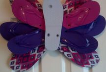 Flip Floptopia / flip flops repurpose... flip flop crafts, redesigning flip flops, flip flop art.... / by Christina Budd