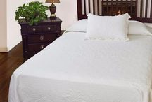 White Luxury Matelasse Bedspreads & Coverlets