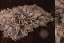 Natural felted furs / Felted furs, handmade and natural. All made by me from sheep fleeces.