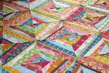 Quilting / Modern quilts, traditional quilts, quilt ideas, strip piecing, english paper piecing, using pre-cuts / by Julie Taylor