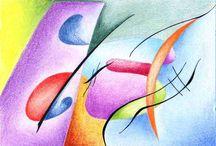 Kandinsky- My faves / Favorite pieces by artist Wassily  Kandinski / by Kim Evans