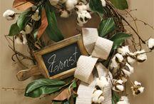 Cotton Wreaths