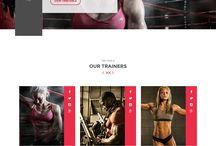 Fitness - Webdesign