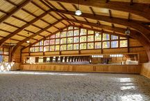 Horse stables.........