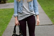 Effortless street style / Denim and lyring