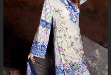 KHAS Premium Lawn / 4 PCs Digital Printed Lawn Suit without Embroidery and Lawn Dupatta and dyed Lawn Trouser