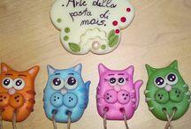 I MIEI GATTI / Gatti colorati, realizzati con la pasta di mais