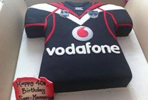 Cake / Vodafone Warriors inspired cakes and treats