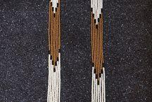 бисерные серьги