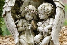 Angels (statues and cemetary) / beautiful statues and cemetary angels, mostly baby and infant loss related