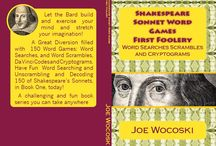 Shakespeare Fun! / Author of this series of the most challenging 150 Shakespeare Sonnet word game books for you to enjoy and puzzle over.