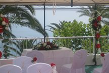 Balcon de Europa / The popular hotel is in the centre of Nerja within walking distance of the hotel.  These are photos weddings that we have organised there over the years.
