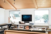 Tetos e paredes de madeira