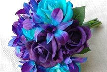 purple blue and teal wedding