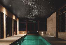 osvětlení strop bazénu