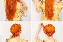 Hairstyles / hairstyles / hair color / braids / fancy hair